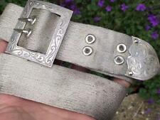 More details for antique solid silver mesh belt (r3112g)