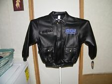 NEW YORK GIANTS YOUTH SIZE L-14-16 FAUX LEATHER JACKET, TOUCHDOWN CLUB, NWT.