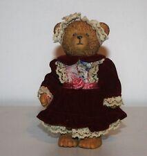 Russ Teddy Town Bear Victorian Style Dress Resin Bear