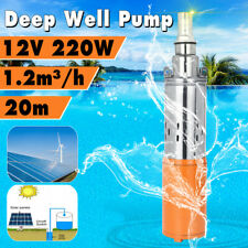DC12V 1.2M³/H 30M Max Lift Deep Well Stainless+Cast Steel Submersible Water Pump