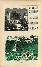 ADVERTISEMENT Chateau Climens Gounouilhou Barsac Wine Coutet Rolland Guy