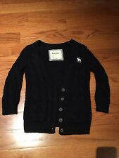 Abercrombie And Fitch Kids Girls Navy Blue Cardigan Sweater. Large NWOT