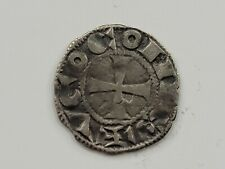 Medieval French AR Denier. La Marche Region. VF. 1100-1200 AD