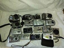 lot of 16 digital + one film cameras Parts Or Repair no batteries or memory.