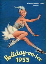 BROCHURE 1953,HOLIDAY ON ICE,RIA BARAN.FALK,PATTINAGGIO SU GHIACCIO,CIRCO,TEATRO
