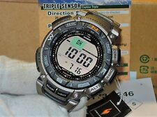 BRAND NEW CASIO PRG-240T-7 PROTREK TRIPLE SENSOR TITANIUM SOLAR LIMITED GENUINE