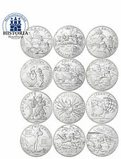 Frankreich 12 x 10 Euro Silbermünzen 2015 stgl Serie II Asterix Komplettserie