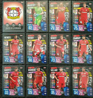 2019/20 Match Attax UEFA Soccer Cards - Full Team Set Leverkusen (12 cards)