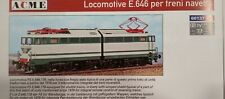 "Acme 60137 FS Locomotiva e 646 178 Navetta ""baffo Verde"" livrea Verde/grigio."