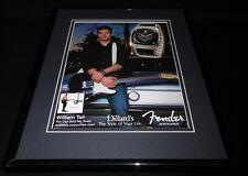 William Tell 2007 Fender Watches Framed 11x14 ORIGINAL Advertisement