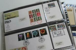 GB Fine Collection of 88 FDCs in Wallets Good Range of Special Handstamps