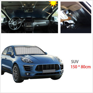 1Pcs Foldable 140-150x80CM Sun Shade Anti-UV Cover Fit For Car Front Windshield