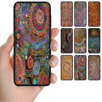 For Samsung Galaxy Series - Aboriginal Art Print Mobile Phone Back Case Cover #2
