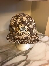 Can't Stop the Crooks Snapback Cap Hat Tan Camouflage Trucker Baseball