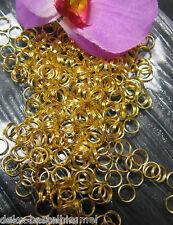 100 Spaltringe 7mm, Ösen Binderinge goldfarben, Anhänger, Verschlüsse befestigen