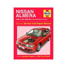 Nissan Almera 1.4 1.6 Petrol 1995-00 (N to V Reg) Haynes Manual