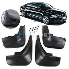 New MUD FLAPS FLAP SPLASH GUARDS MUDGUARD FOR Audi A6L A6 C6 Sedan 2006+