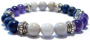 ANGER RELEASE (Rational Response) 8mm Crystal Intention Bracelet w/Card- Healing