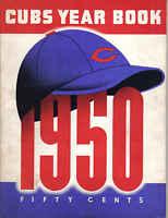 1950 Chicago Cubs Baseball Yearbook, magazine, Hank Sauer, Phil Cavarretta FAIR