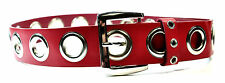 LADIES CHUNKY RED / SILVER BELT BRAND NEW UNIQUE STUNNING (MZ1)