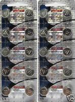 20 Maxell Batteries LR44 (A76, AG13) Alkaline Button Size Battery, On Tear Strip