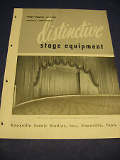 Knoxville Scenic Studios Inc. 1950's catalog Asbestos Curtains J R Clancy