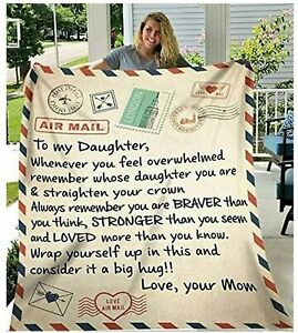 Personalized Letter To My Daughter Mom Plush Pleece Blanket Birthday Gift