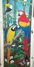 RAUL DEL RIO PARROTS IN JUNGLE TREE HUGE COLOR POSTER