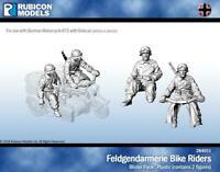 Rubicon Models Feldgendarmerie Bike Crew 1/56 28mm German Biker for R75 WW2