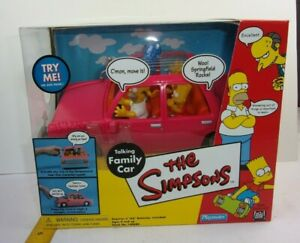 The Simpsons talking Family Car MINT clear window Vintage Playmates SCARCE!