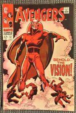 Avengers # 57 (1st Vision) ...High Grade Copy