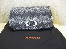 Missoni,  Tracolla in Missoni Fabric, Snake Lurex Nero,  NWT