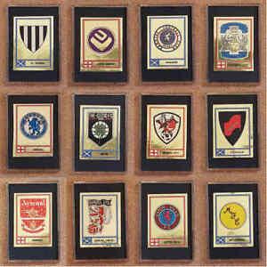 Panini 78 1978 Football Shiny Foil Badge Sticker Fridge Magnet - Various Teams