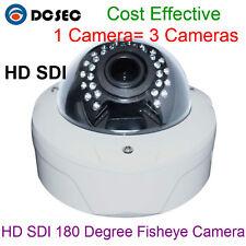 Full 1080P 2MP 180 Degree Wide Angle CCTV Indoor HD SDI Dome Camera Night Vision