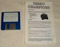 Turbo Champions IBM PC  1989 CLASSIC ARCADE VINTAGE GAME Mastertronic Software