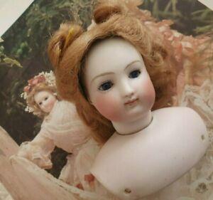 """Belle tête buste Poupée Parisienne """" B.0.S"""" Blampoix Senior ? circa 1860 !"""