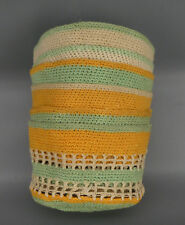 CROCHETED DRINK GLASS COASTERS KOOZIES UNIQUE HAND MADE MID-CENTURY MODERN
