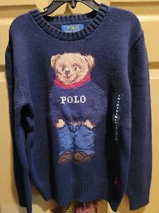 ralph lauren polo bear sweater boys size 8