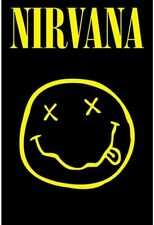 More details for nirvana smiley classic cover print a4 and a3 wall art poster decor artwork