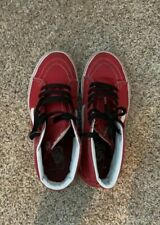 VANS Sk8-Hi Red Sz 6 Men/7.5 Women's Skateboarding Shoes High-Top