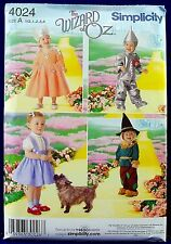 Simplicity Baby Toddler Wizard Oz Costume Sewing Pattern Child 1/2,1,2,3,4 4024