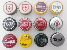 Portugal 12x Used Bottle Cap Beer Cider Soft Drink Mixed Lot Kronkorken Chapa