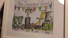 Unique Personalised Family Sketches - ideal presents for Birthdays or Christmas