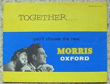 MORRIS OXFORD Car Sales Brochure 1959 #5951