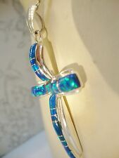 "2"" Black Colorful FIRE OPAL Cross Sterling Silver Unisex Sterling Silver 925"