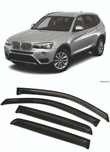 For  BMW X3 (F25) 2010-2017 Window Visors Sun Rain Guard Vent Deflectors