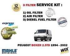 FOR PEUGEOT BOXER 2.5TD 6/1994-3/2002 NEW OIL AIR FUEL FILTER SERVICE KIT