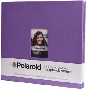 Polaroid PL2X3SBR Purple Textile Photo Album and Sheet Protector