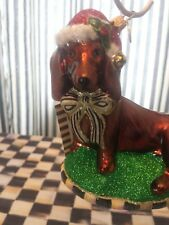 Mackenzie Childs Dachshund Ornament- NIB~ #53914-22
