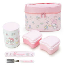My Melody Insulated Lunch Case Set Bento box Sanrio Kawaii Cute F/S NEW